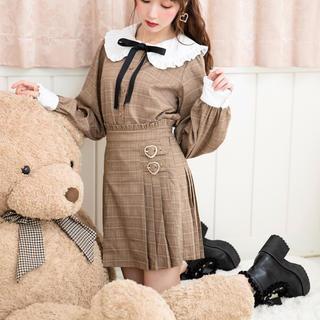 ハニーシナモン(Honey Cinnamon)のHoney Cinnamon チェックプリーツスカート ブラック(ミニスカート)