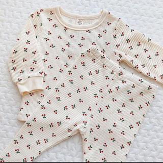 petit main - 新品 タグ付き  さくらんぼ パジャマ  🍒 セットアップ