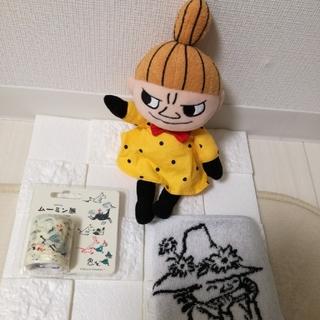 【ムーミン展】セット ミィぬいぐるみ &ミニタオル &マスキングロールステッカー(キャラクターグッズ)