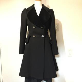 ヴィヴィアンウエストウッド(Vivienne Westwood)のRED LABEL ラブ襟 プリンセスコート black (チェスターコート)