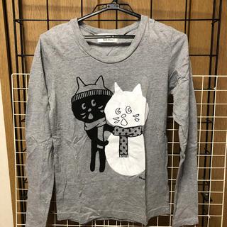 ネネット(Ne-net)のネネット にゃー ロンT雪だるま猫長袖Tシャツ(Tシャツ(長袖/七分))
