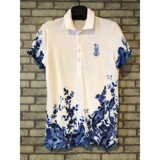 Ralph Lauren - ラルフローレン  水墨画 フラワー ポロシャツ 極美品