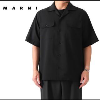 マルニ(Marni)の20SS MARNI ウールマイクロチェックオープンカラーシャツ(シャツ)