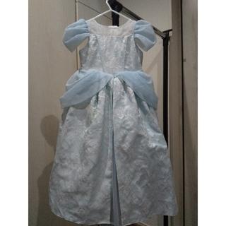 ディズニー(Disney)のころころころ様シンデレラドレス 110センチ グローブ、ティアラ、サッシュ、巾着(ミディアムドレス)