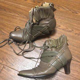 リミフゥ(LIMI feu)のLIMI feu レザー ショート ブーツ(ブーツ)