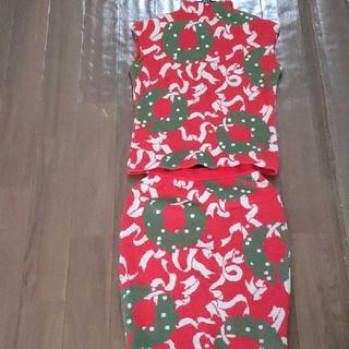 ジュンコシマダ(JUNKO SHIMADA)のジュンコシマダ シマダジュンコ  セットアップ クリスマス柄 ニット(ニット/セーター)