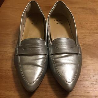 オデットエオディール(Odette e Odile)のシルバーパンプス(ローファー/革靴)