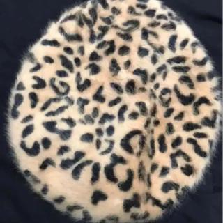 マウジー(moussy)のMOUSSY ヒョウ柄 ベレー帽(ハンチング/ベレー帽)