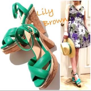 リリーブラウン(Lily Brown)の売り切り価格!送料込 Lily Brown コルクスサンダル S レディース(サンダル)