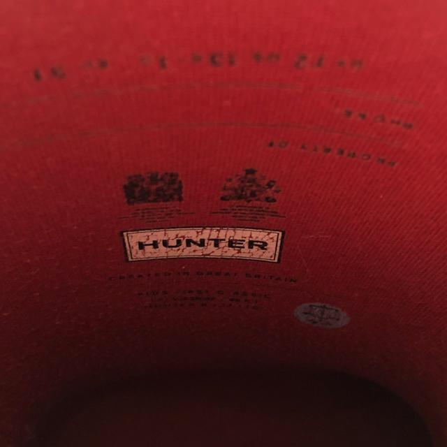 HUNTER(ハンター)の♡ハンターレインブーツ♡最終値下げ⭐︎ミリタリーレッド キッズ 18cm キッズ/ベビー/マタニティのキッズ靴/シューズ(15cm~)(長靴/レインシューズ)の商品写真