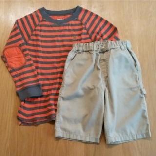 コムサイズム(COMME CA ISM)の*GAP オレンジボーダー ロンT*COMME CA ISM ショートパンツ(Tシャツ/カットソー)