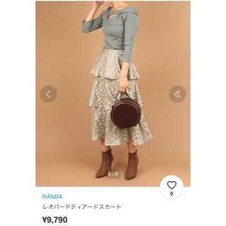 ランダ(RANDA)のレオパード柄ティアードスカート(ロングスカート)
