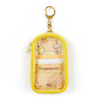 ポムポムプリン(ポムポムプリン)のアクリルスタンドホルダー イエロー 黄色 ポムポムプリン(キャラクターグッズ)