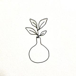 ワイヤークラフト 【瓶と大きい葉っぱ】(その他)