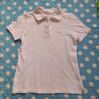 ニッセン(ニッセン)のused TS  ティーンS  150 140 半袖ポロシャツ 白 スクール(Tシャツ/カットソー)