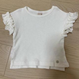 プティマイン(petit main)のホワイトトップス(Tシャツ)