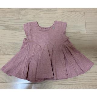 プティマイン(petit main)のフレアトップス(Tシャツ)