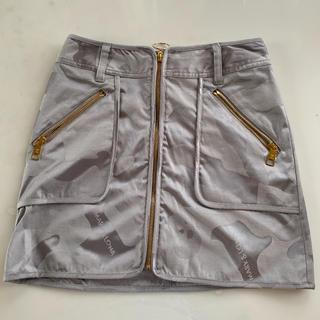 マークアンドロナ(MARK&LONA)のマークアンドロナ スカート 38 Mサイズ グレー ゴルフ 美品(ウエア)