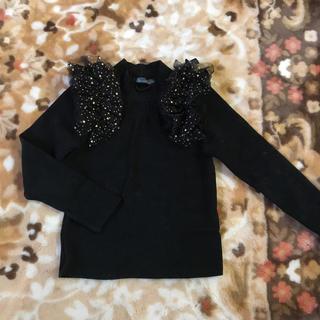 アニカ(annika)の韓国子供服 アローコットン サイズ11 120㎝  星 肩チュールカットソー(Tシャツ/カットソー)