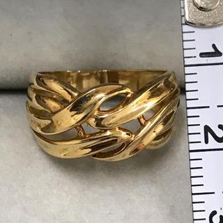 k18  幅広 デザインリング 美品‼️(リング(指輪))