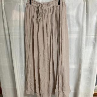 グローブ(grove)の淡いピンクのスカート(ロングスカート)