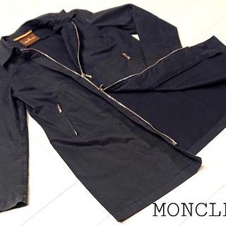 モンクレール(MONCLER)のフランス製 MONCLER モンクレール ステンカラーコート フード付 サイズ1(トレンチコート)