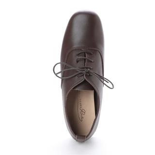 ジェリービーンズ(JELLY BEANS)のJELLY BEANS レースアップ 本革 カジュアル レディース 23.0cm(ローファー/革靴)