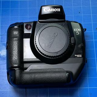 キヤノン(Canon)のCANON EOS 5QD + VG10縦位置グリップ(フィルムカメラ)