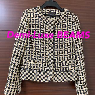 デミルクスビームス(Demi-Luxe BEAMS)のDemi-Luxe BEAMS ジャケット 36(ノーカラージャケット)