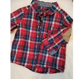 エイチアンドエム(H&M)のチェックシャツ、男の子、90、H&M(ブラウス)