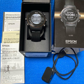 エプソン(EPSON)のキョンさん専用 U350 GPSランニングwatch(ランニング/ジョギング)