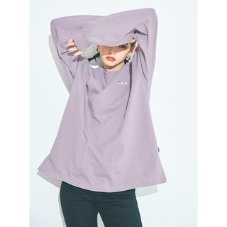 グレイル(GRL)のGRL FILA ビッグロンT くすみパープル(Tシャツ(長袖/七分))