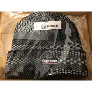 シュプリーム(Supreme)のsupreme Multi Pattern Beanie black ニット帽(ニット帽/ビーニー)