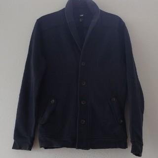 エイチアンドエム(H&M)のH&M Lサイズ メンズ ジャケット ネイビー 紺色 秋冬 アウター(テーラードジャケット)
