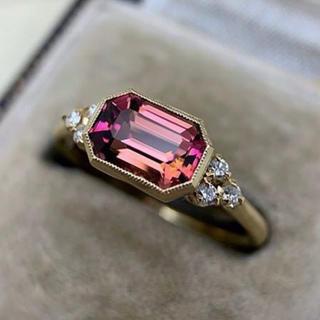レッドダイヤモンド&ホワイトサファイアリング 16号(リング(指輪))