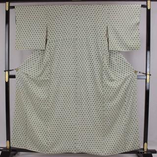 AC5899 小紋 161㎝ 訳有超特価 グレー系絞り 簡易発送(着物)