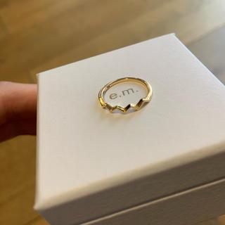 イーエム(e.m.)のe.m. gold k18 ファランジリング ピンキーリングゴールド(リング(指輪))