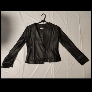 グレイル(GRL)のGRL(グレイル) レザー ライダースジャケット Mサイズ 革ジャン 黒(ライダースジャケット)