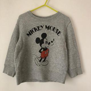 ユニクロ(UNIQLO)のUNIQLO ミッキー柄トレーナー 100(Tシャツ/カットソー)