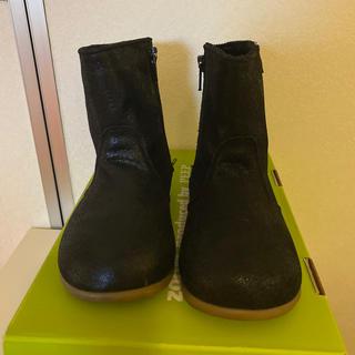 ボンポワン(Bonpoint)のzoom peep ペコスブーツ 14.5cm ブラックラメ(ブーツ)