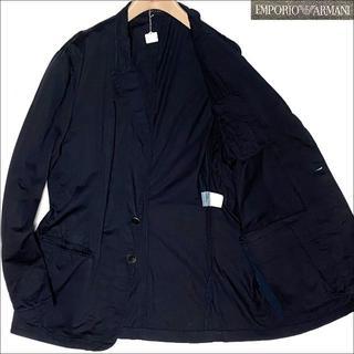 エンポリオアルマーニ(Emporio Armani)のJ5183 美品 エンポリオアルマーニ コットンテーラードジャケット 濃紺 58(テーラードジャケット)