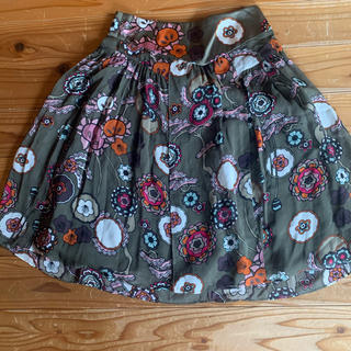 ケンゾー(KENZO)のKENZO シルクスカート(ひざ丈スカート)