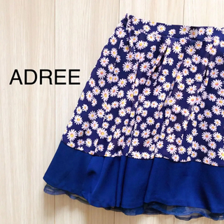 アドリー(ADREE)のADREE 花柄スカート(ひざ丈スカート)