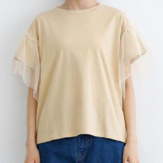 ダブルクローゼット(w closet)の!夏物処分SALE!メルロー チュールスリーブ Tシャツ(Tシャツ(半袖/袖なし))