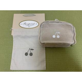 ボンポワン(Bonpoint)のBonpoint ポーチ ベロア Mサイズ 布袋&ショップ袋つき(ポーチ)