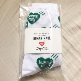 ジーディーシー(GDC)の新品 HUMAN MADE ヒューマンメイド 靴下 ホワイト 緑 白 グリーン(ソックス)