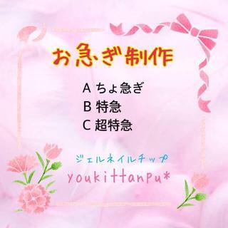お急ぎ制作【Aちょ急ぎ】【B特急】【C超特急】*youkittanpu*(ネイルチップ)