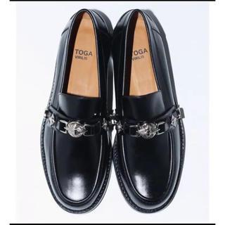 トーガ(TOGA)のTOGA VIRILIS PULLA ローファー 革靴 メタル 45(ドレス/ビジネス)