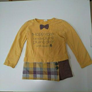 ニットプランナー(KP)のKP 130cm トレーナー チュニック マスタード色 かわいい 女の子 ミミ(Tシャツ/カットソー)