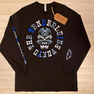 テンダーロイン(TENDERLOIN)の新作! TENDERLOIN 長袖 Tシャツ ロンT ボルネオスカル 黒 XL(Tシャツ/カットソー(七分/長袖))